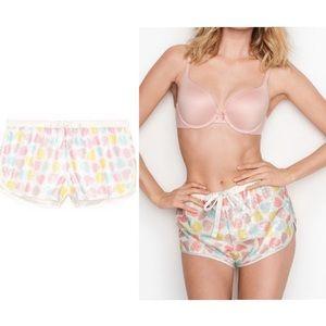 Victoria Secret Sequins BLING Heart Sleep Short M